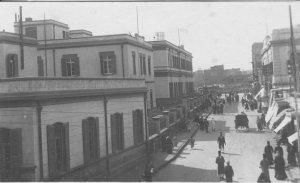 شارع المديرية في أواخر العشر ينيات حيث كان هناك العديد من المباني مثل مديرية أمن البحيرة والتي تم إنشائها سنة 1882 ومكانها اليوم الميدان وتمثال الشيخ محمد عبده